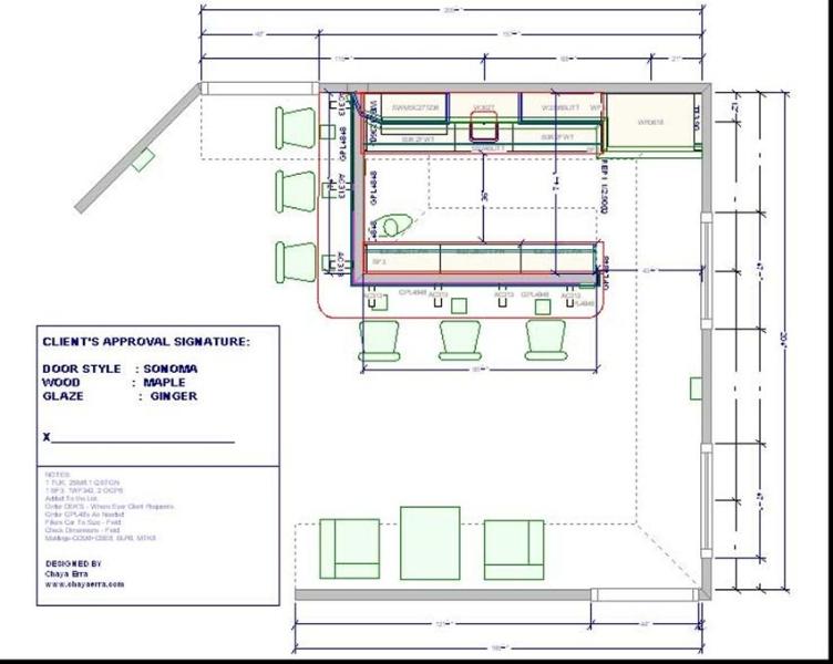 Juice Bar Floor Plan Bar Chaya Erra